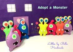 #Adoptamonster #partycute #monsters #monstertheme Little #MonsterPartyFavors #partysupplies #Plush #alien #childfriendly #giftforkids #turbofastparty