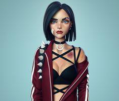 Mtv Shows, Cyberpunk Character, Manga, Art Girl, Wonder Woman, Anime, Superhero, Artwork, Concept