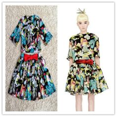 Nwe  2014 summer and spring fashion casual long dress free shipping size SML 8041 H031706 women sets clothings $76.00