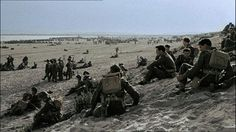 Soldiers waiting on the shores of Dunkirk for their evac.