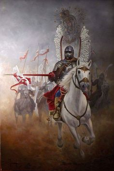 A Catholic Polish Winged Hussar under the protection of our Blessed Mother.
