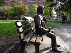 Monument for Alan Mathison Turing in Manchester (England)