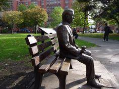 Monument for Alan Turing in Sackville Park, Manchester.