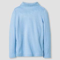 Toddler Girls' Long Sleeve Interlock Polo Shirt Cat & Jack - Light Blue 2T, Toddler Girl's