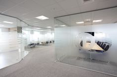 Glass Partitioning by Form.