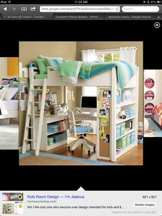 Need this bed....  Maybe if it was a full and a slide to go down!
