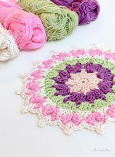 Skein Crochet Projects Mini Mandala, a funny weekend crochet project Mini Haken Mini Mandala,. Mini Mandala, a funny weekend crochet project Mini Haken Mini Mandala, a funny weekend cr Scrap Yarn Crochet, Crochet Mat, Wire Crochet, Crochet Geek, Crochet Potholders, Crochet Bracelet Pattern, Crochet Mandala Pattern, Crochet Patterns, Mini Mandala