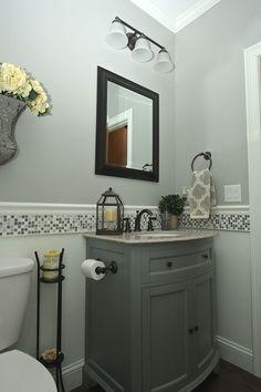 37 Modern Bathroom Vanity Ideas for Your Next Remodel In 2020 – diy bathroom ideas Upstairs Bathrooms, Downstairs Bathroom, Bathroom Renos, Bathroom Renovations, Bathroom Cabinets, Bathroom Backsplash Tile, Rustic Bathroom Vanities, Modern Bathroom, Small Bathroom