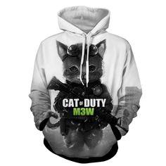 Call of Duty Cat Parody Version Cute Fan Art Hoodie  #CallofDuty #Cat #Parody #Version #Cute #FanArt #Hoodie