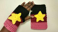 Garnet Inspired Crochet Gloves Cosplay Halloween by OliveandBrook Crochet Gloves Pattern, Crochet Slippers, Knit Crochet, Crochet Patterns, Easy Crochet, Crochet Ideas, Halloween Tumblr, Steven Universe Drawing, Nerd Crafts
