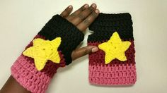Garnet Inspired Crochet Gloves - Cosplay- Halloween - Steven Universe Inspired - Fingerless Gloves