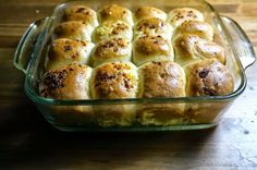 Pancitos tiernos de ajo - Pão Bolinha de Alho ~ Pasteles de colores