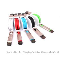 SA30 2 in 1 Retractable Micro USB Lighting Charging Cable Data Sync Transfer Wire Core For iPhone 5 5s 6 6s Plus Android Samsung #clothing,#shoes,#jewelry,#women,#men,#hats,#watches,#belts,#fashion,#style