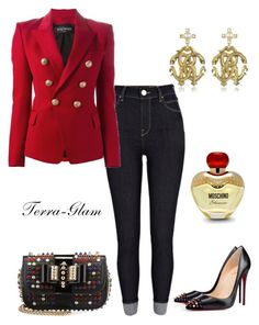 """""""Studded & Classy"""" by terra-glam ❤ liked on Polyvore"""