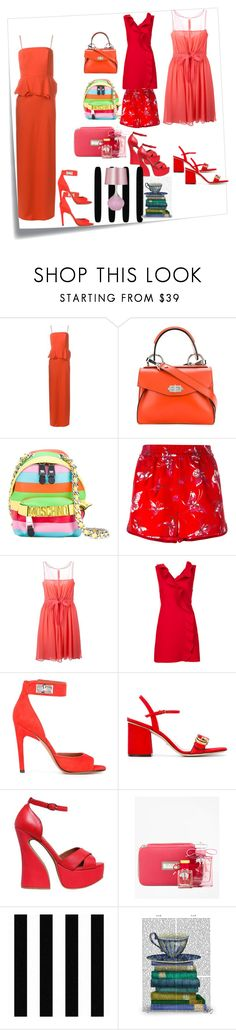 """""""When in doubt, wear Red"""" by mkrish ❤ liked on Polyvore featuring Post-It, Chalayan, Proenza Schouler, Moschino, F.R.S For Restless Sleepers, Giambattista Valli, MSGM, Givenchy, Gucci and Jeffrey Campbell"""