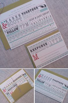 Punch Card Invitations