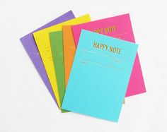 Happy Note cards from tokketok