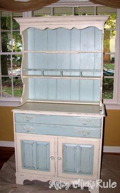 DIY Furniture  : DIY Transformed into a Coastal Shabby Treasure {Annie Sloan Chalk Paint}