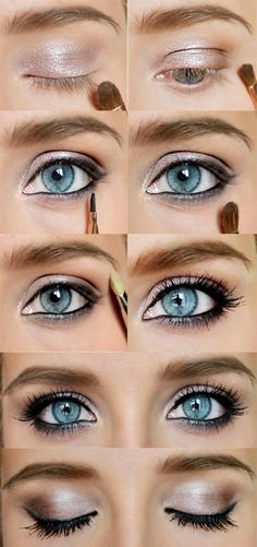 How to Do Sexy Blue Eyes Makeup | Gold Eyeshadow Tips
