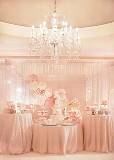 gorgeous setting and colour scheme #weddings #kitchentea #pink