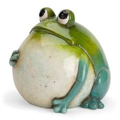 Big Belly Ceramic Frog Statue Pottery Animals, Ceramic Animals, Clay Animals, Frog Statues, Garden Statues, Animal Statues, Pottery Sculpture, Sculpture Clay, Sculpture Ideas