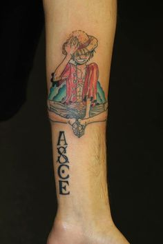 One Piece tattoo #tattoo #tattootom #bournemouth #onepiece #anime Like me on Facebook: www.facebook.com/tattooisttom