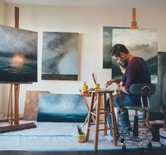 Adam Hall is a Nashville based graphic designer by day… and an insanely talented, self-taught, oil painter by night.