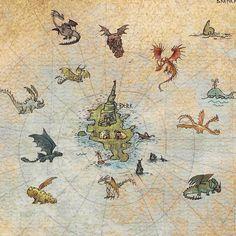 2/4 - Hiccups Map: Httyd Dragons, Dreamworks Dragons, Disney And Dreamworks, Dragon Birthday, Dragon Party, Hiccup And Astrid, Dragon Eye, Dragon Book, Dragon Rider