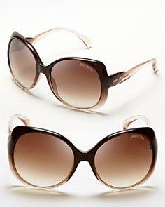 Jimmy Choo Squared Oversized Dahlia Sunglasses
