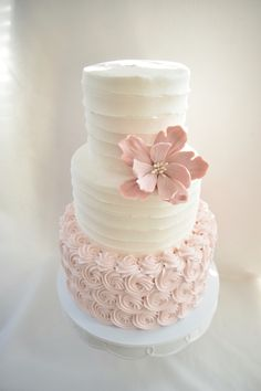 Textured buttercream wedding cake - Kyrsten's Sweet Designs | Custom designed cakes & cookie favors