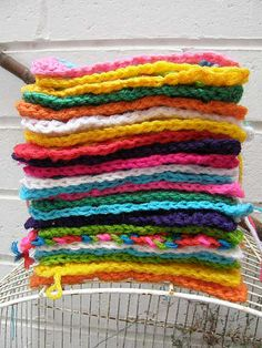 How To Crochet A Granny Square - A Guide For Absolute Beginners     Pile o Granny Squares by meetmeatmikes, via Flickr