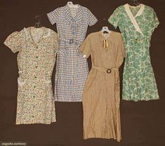 House Dresses (image 1) | 1930s | cotton | Augusta Auctions | May 10, 2016/Lot 1054