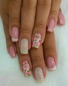 Beauty Nails, Hair Beauty, Manicure Y Pedicure, Flower Nails, You Nailed It, Pretty Nails, Flower Designs, Nail Designs, Polish