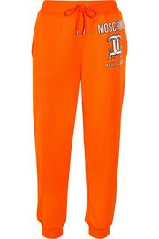 Printed jersey track pants