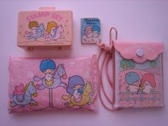 Sanrio Little Twin Stars items. All this stuff had a distinct candy-like smell. Hello Kitty survived, everyone forgot these.