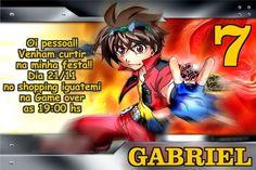 Convite digital personalizado Bakugan 003