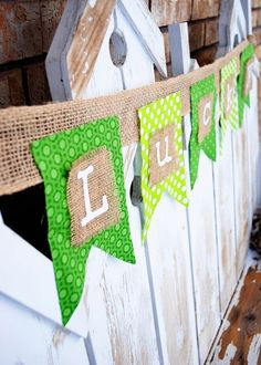 A rustic chic St. Patrick's Day banner.
