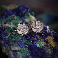 Wieloryby mini kolczyki ze srebra Cufflinks, Wedding Rings, Engagement Rings, Silver, Accessories, Jewelry, Enagement Rings, Jewlery, Money