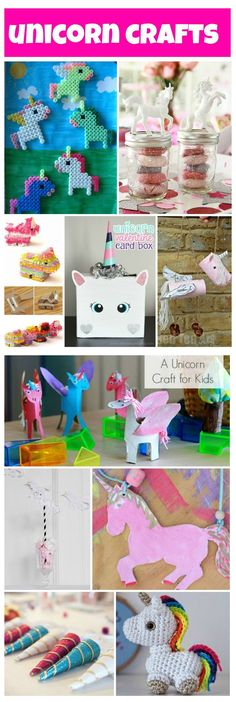 lots of unicorn crafts to do with or for your kids, fun crafts for kids who love unicorns!