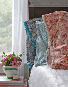 Make charming Shabby pillow cases from scratch tutorial and 45 BEST Shabby Lifestyle Decor & Accessory DIY Tutorials EVER!! From MrsPollyRogers.com