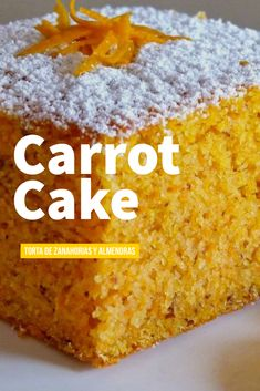 Carrot Cake ~~~ Easy recipe for a moist carrot CAKE LOAF, topped with a sweet and tangy classic cream cheese frosting Easy Cake Recipes, Sweet Recipes, Dessert Recipes, Tortas Light, Moist Carrot Cakes, Cheesecake Cake, Almond Cakes, Savoury Cake, Yummy Cakes