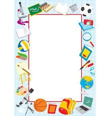 Image result for school supplies border clipart