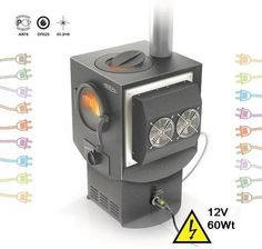 This stove generates direct current of 12 volts and power not less than 60 watts, which is transferred to the control block and then to the external clamp outlets. The electricity generators enter stable operation mode 12 – 15 minutes after fire starts. Electricity Generating Wood Burning Stove Indigirka-2 | Tiny Homes