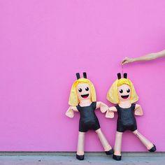 "That favorite ""dancing girls"" emoji... turned into a piñata!"