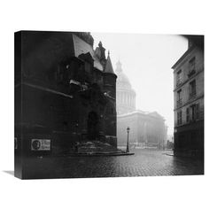 Global Gallery 'Paris, 1924 - The Panthon' by Eugene Atget Photographic Print on Wrapped Canvas Size: