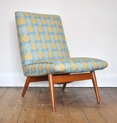 Parker Knoll chair upholstered in Kiran Ravilious fabric