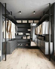 Alluminiawood Wardrobe Room, Wardrobe Design Bedroom, Closet Bedroom, Open Wardrobe, Walk In Closet Design, Closet Designs, Modern Home Office Desk, Dressing Room Design, Home Room Design