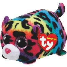 Teeny Ty Jelly Multicoloured Leopard
