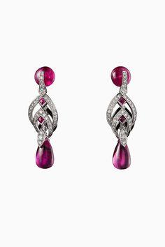 CARTIER. Earrings #Cartier #RésonancesDeCartier #2017 #HauteJoaillerie #HighJewellery #FineJewelry