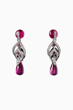 CARTIER. Earrings ruby ,diamonds #semijewels #semijewelssilver #semijewelsgold